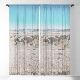 Wild horses, Nevada Sheer Curtain