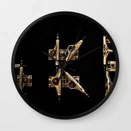 Sk8 typography Wall Clock