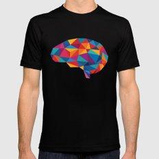 Brain Black Mens Fitted Tee MEDIUM