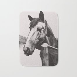 Horse Greeting A Stranger Bath Mat