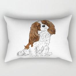 Cavalier King Charles Spaniel Blenheim Rectangular Pillow