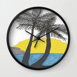The Beach at Sunrise Wall Clock