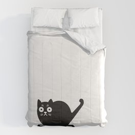 Surprised cat! Comforters