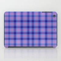 preppy iPad Cases featuring Purple Plaid Preppy by michaelrosen