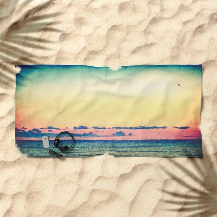 You Should Be Here Beach Towel