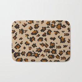 Pixelated Leopard Bath Mat