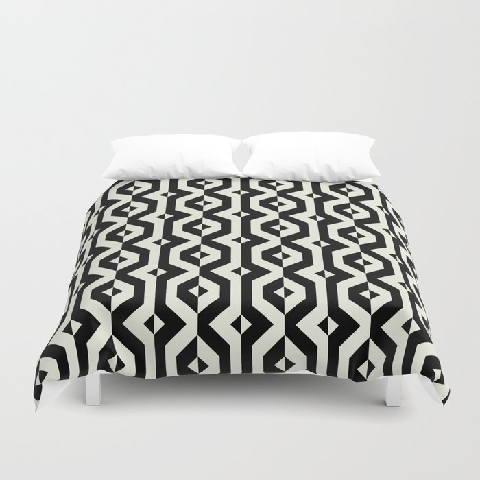 Modern Bold Print With Diamond Shapes Duvet Cover By Tukkki Society6