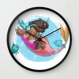 Singing Under the Sea Wall Clock