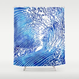 Blue Wave II Shower Curtain