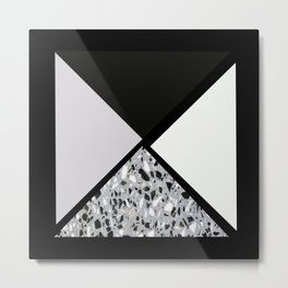 Terrazzo triangles Metal Print