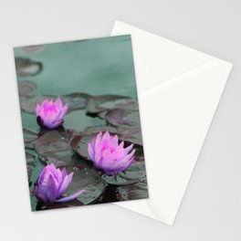 monet's waterlilies: pink variations Stationery Cards