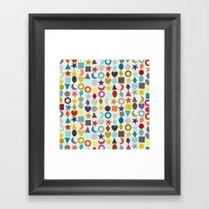 geo garland Framed Art Print