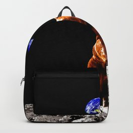 Moon Grizzly Bear  Backpack