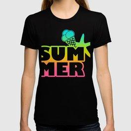 Summer sun gift holiday holidays beach sea T-shirt