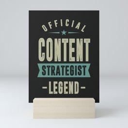 Content Strategist Mini Art Print