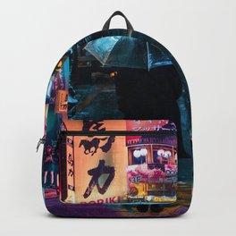 Japan street night Backpack