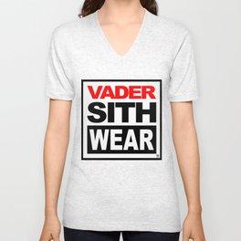 Vader Sith Wear (white) Unisex V-Neck