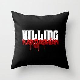 Killing Kardashian Title Logo Throw Pillow