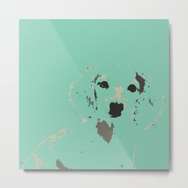 Mint Lady Metal Print