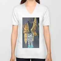 grace V-neck T-shirts featuring grace by Ashley James