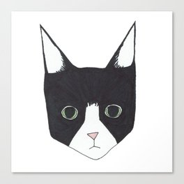 Henry the Tuxedo Cat Canvas Print