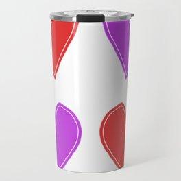 Red and Purple Hearts - 4 hearts Travel Mug