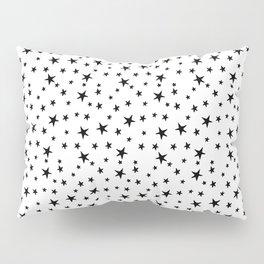 Mini Stars - Black on White Pillow Sham