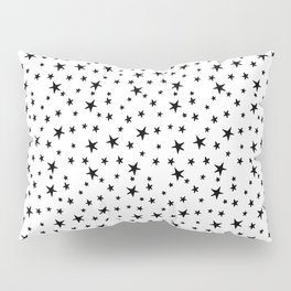 Mini Stars - Black on White Pillow Sham