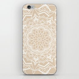 Winter flower mandala iPhone Skin