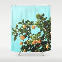 Summer Orange Tree Shower Curtain