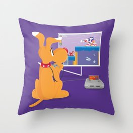 Robot Game Throw Pillow
