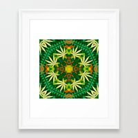 cannabis Framed Art Prints featuring Tribal Cannabis by GypsYonic