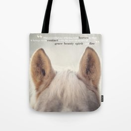 Grace, Beauty, Spirit & Fire Tote Bag
