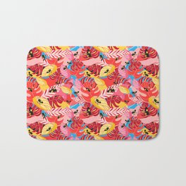 Beautiful illustration of a jungle with the frogs Bath Mat