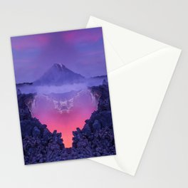 The mutation of the volcano Stationery Cards