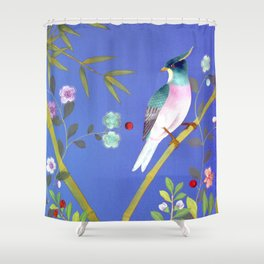 the elusive blue of a summer's twilight Shower Curtain