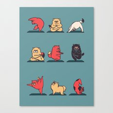 Cat Yoga Canvas Print