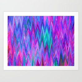 Holographic Mountains Art Print