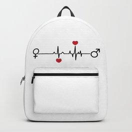 Love EKG Backpack