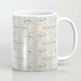 Contemporary Indian floral in watercolor - teal and send Coffee Mug