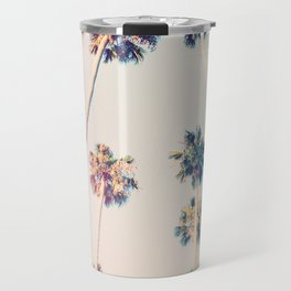 Vintage Pastel Palm trees Travel Mug