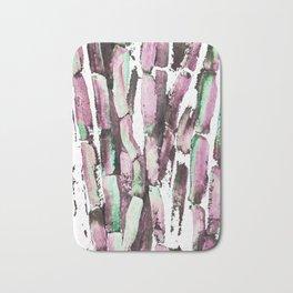 Purple Sugarcane on Greenery Bath Mat