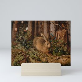 A Hare In The Forest Hans Hoffmann Mini Art Print