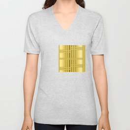 Abstract background with gold bars Unisex V-Neck