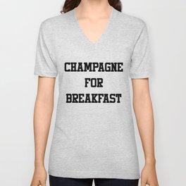 Champagne For Breakfast Unisex V-Neck