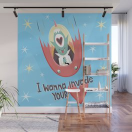 I wanna invade your heart Wall Mural