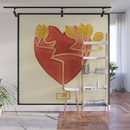 Art Nouveau Heart Wall Mural