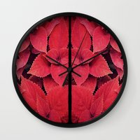 moulin rouge Wall Clocks featuring Rouge by KunstFabrik_StaticMovement Manu Jobst