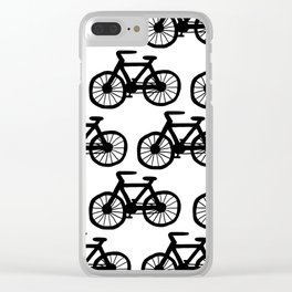 Bicycle Doodle Clear iPhone Case