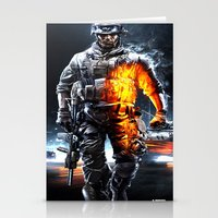 battlefield Stationery Cards featuring Battlefield 3 by Angelblack